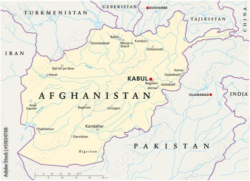 Afghanistan map (Afghanistan Landkarte)\
