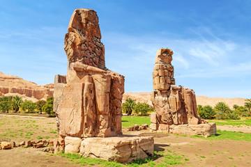 The Colossi of Memnon  in Luxor, Egypt