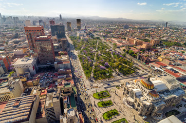 Photo sur cadre textile Mexique Mexico City Aerial View