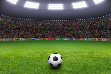 Soccer ball, stadium, light