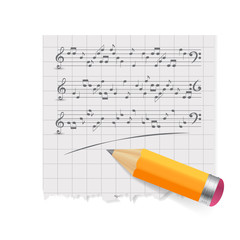 musical notes abstract background. Vector Illustration