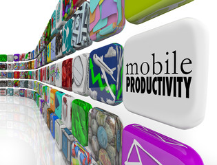 Mobile Productivity Apps Software Working Remotely on the Go