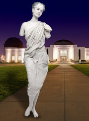 Human Female Statue at the Griffith Observatory