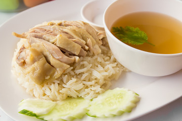 Chicken and rice for Asia food