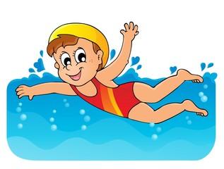 Swimming theme image 1