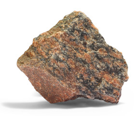 granite red gray stone a isolated on white background