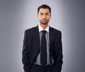 Serious Executive in Business Suit