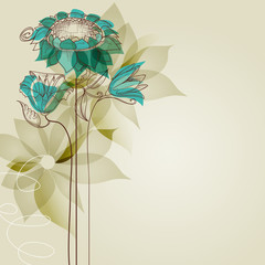 Spoed Fotobehang Abstract bloemen Vector flowers