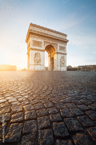 Wall mural Arc de Triomphe Paris France