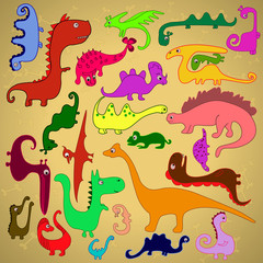 Colored Dinosaurs