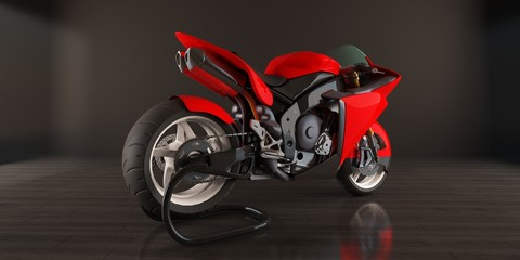 Aluminium Prints Motorcycle red bike