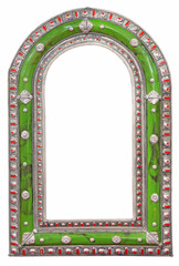 Green mirror frame