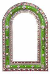 Green mirror frame
