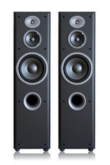 Acoustic system isolated vertically