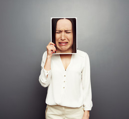 concept photo of sad woman