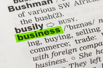 Word Business in Dictionary