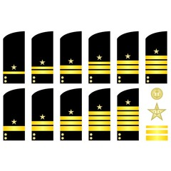 Shoulder patches employees of the Russian Navy