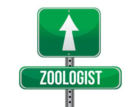 zoologist road sign illustration