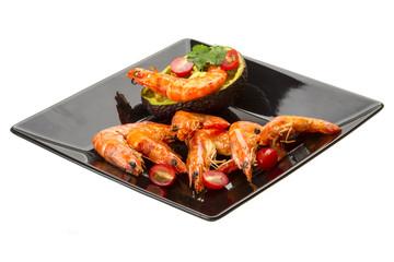 Shrimps and Avocado