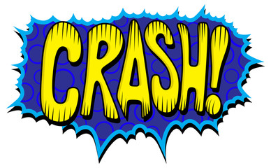 Crash - Comic Expression Vector Text