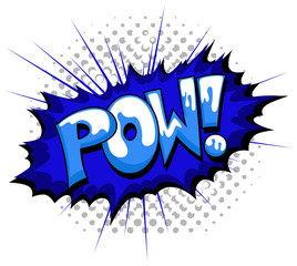 Pow - Comic Expression Vector Text