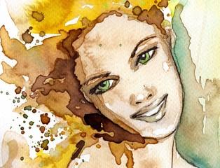 Wall Murals Painterly Inspiration beautiful woman