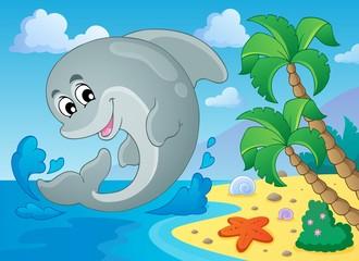 Photo sur Aluminium Dauphins Image with dolphin theme 5
