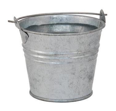 Fresh water in a miniature metal bucket