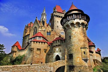 Fotorolgordijn Kasteel Kreuzenstein castle - castle from fairy tale, Austria