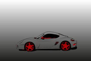 Abstract race car