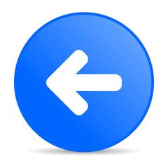 arrow left blue circle web glossy icon