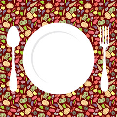 Vegetables menu background