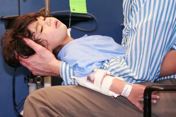 Little boy in Emergency Room