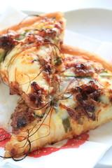 italian gourmet, beef and leek Pizza