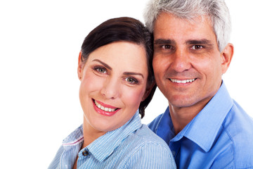 lovely middle aged couple closeup