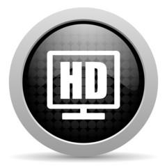 hd display black circle web glossy icon