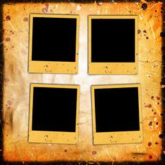 photo frames on grunge background