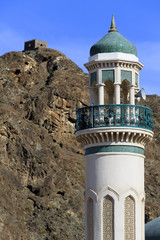 Mosque and watchtower in Old Muscat