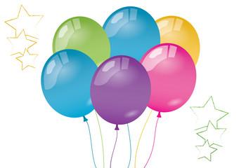 Obraz Stars and balloons - fototapety do salonu