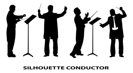conductor is isolated on a white background