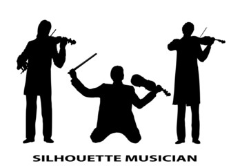 silhouette violinist