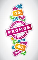 Promotions - Illustration vectorielle