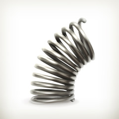 Elastic metal spring