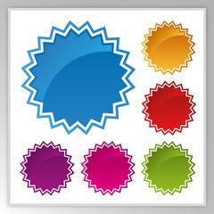 Splash vector icons set