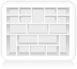 White Type Case - Shadowbox ( Weißer Setzkasten )