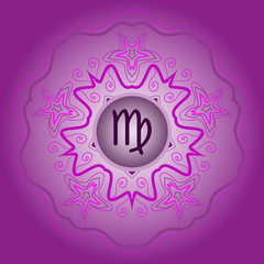 zodiac sign The Virgin (virgo ) violet