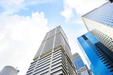 Fotobehang Aan het plafond Modern skyscrapes