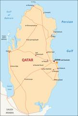 Qatar map