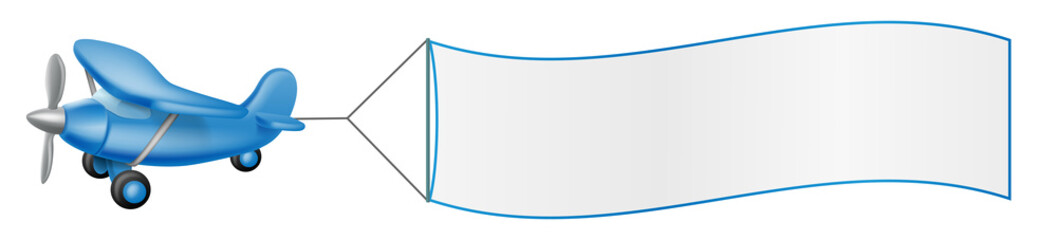 Aeroplane pulling banner