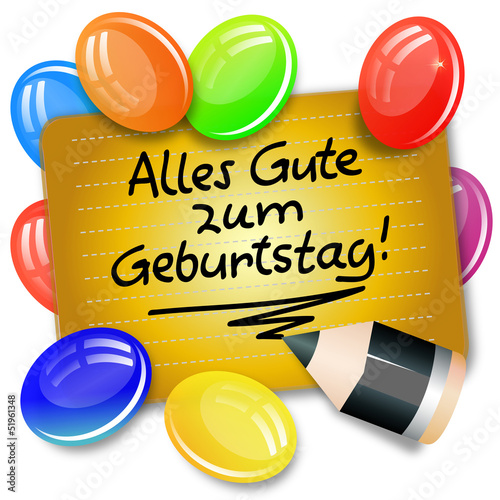 Gratulation Geburtstag Stock Image And Royalty Free Vector Files